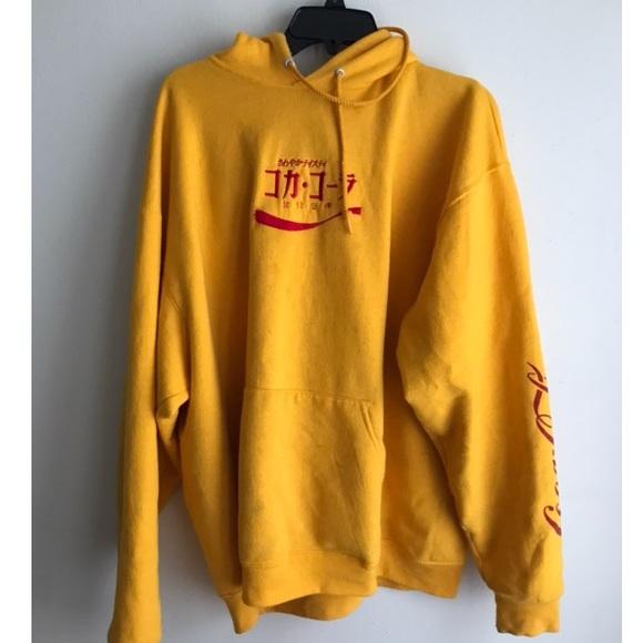 0cfea752dcb yellow coca cola hoodie